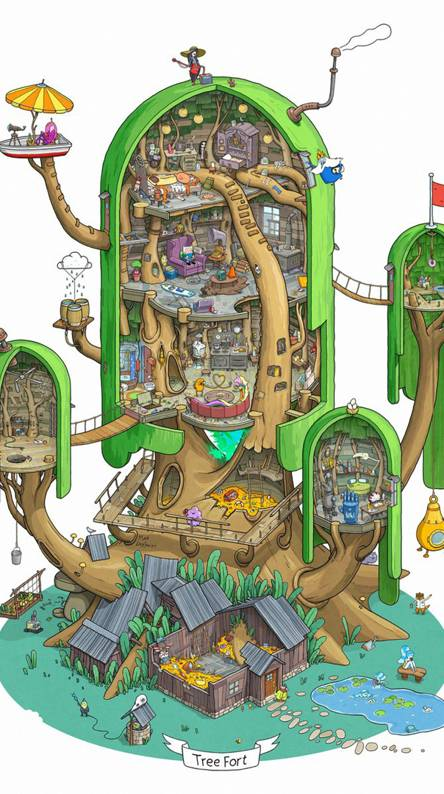 adventure time tree