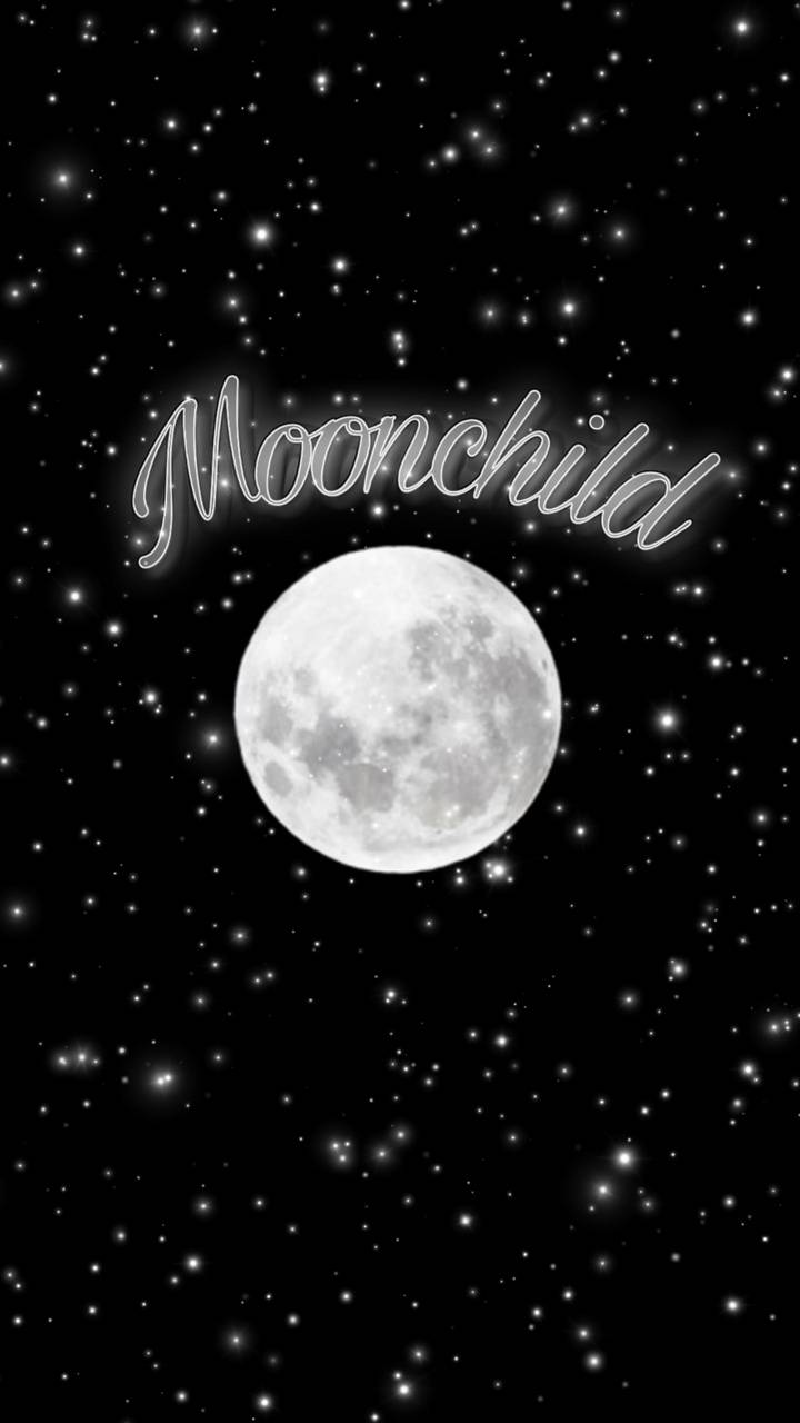 Moonchild with stars