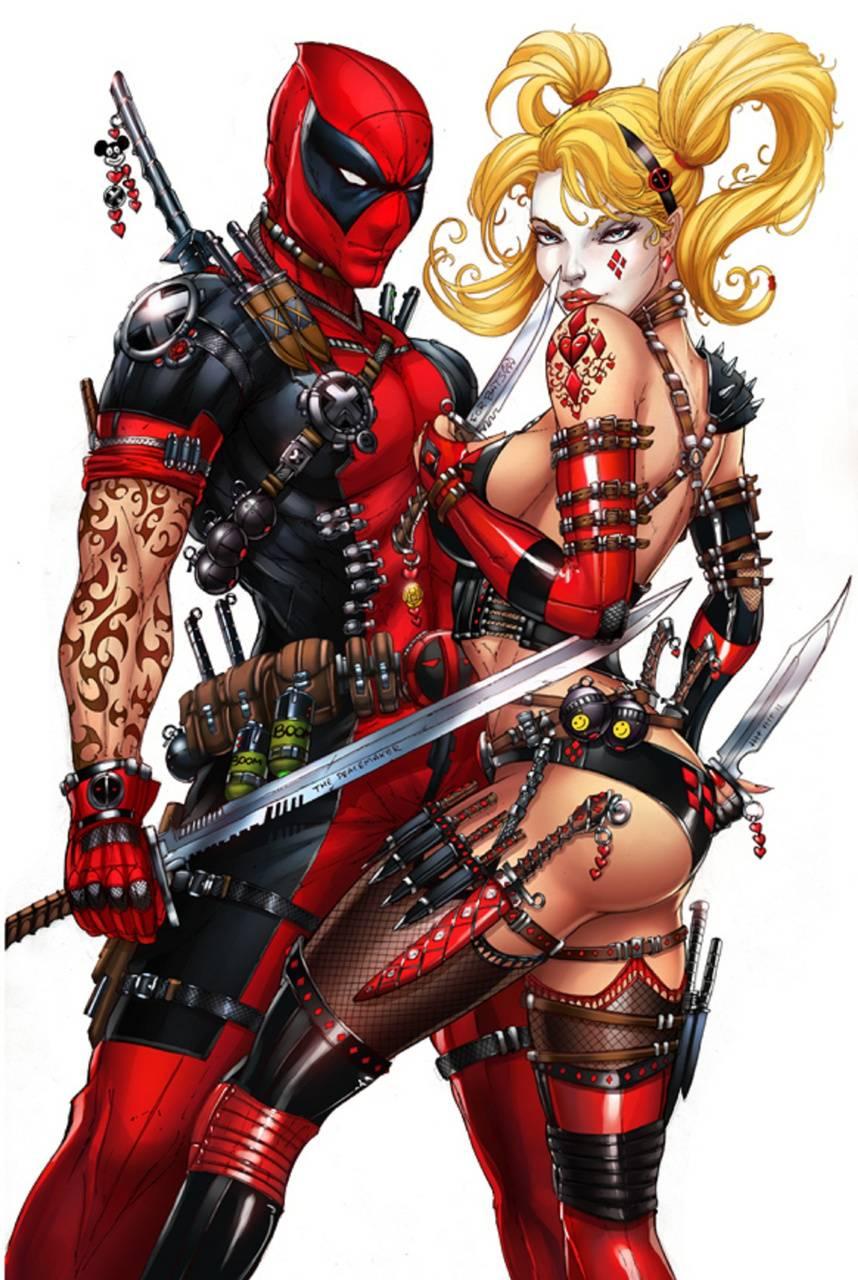 Harley And Deadpool
