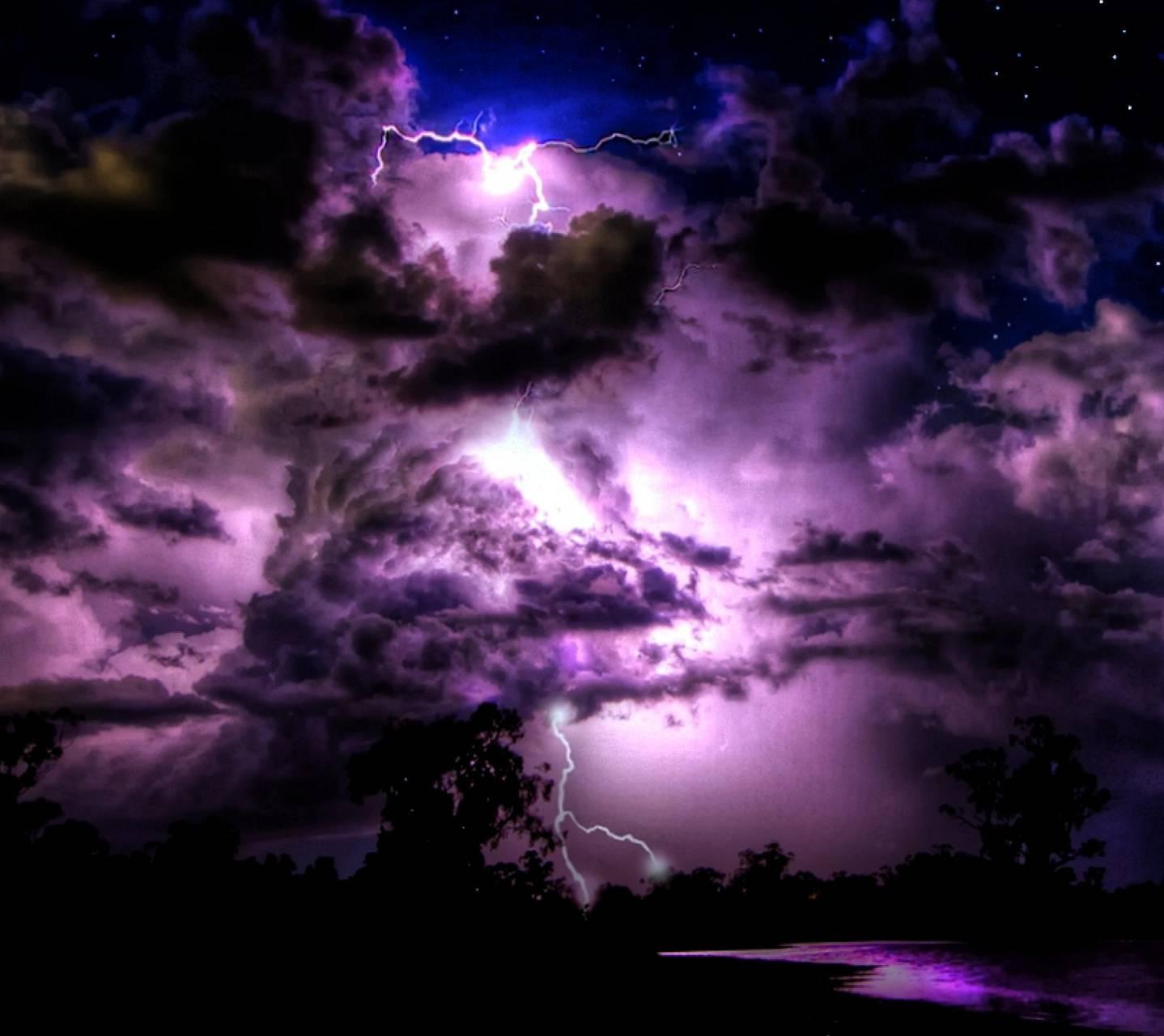 Purple Lightnings