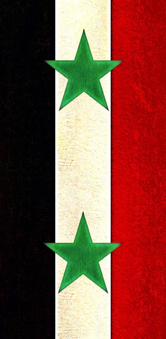 Syria Flag vertical