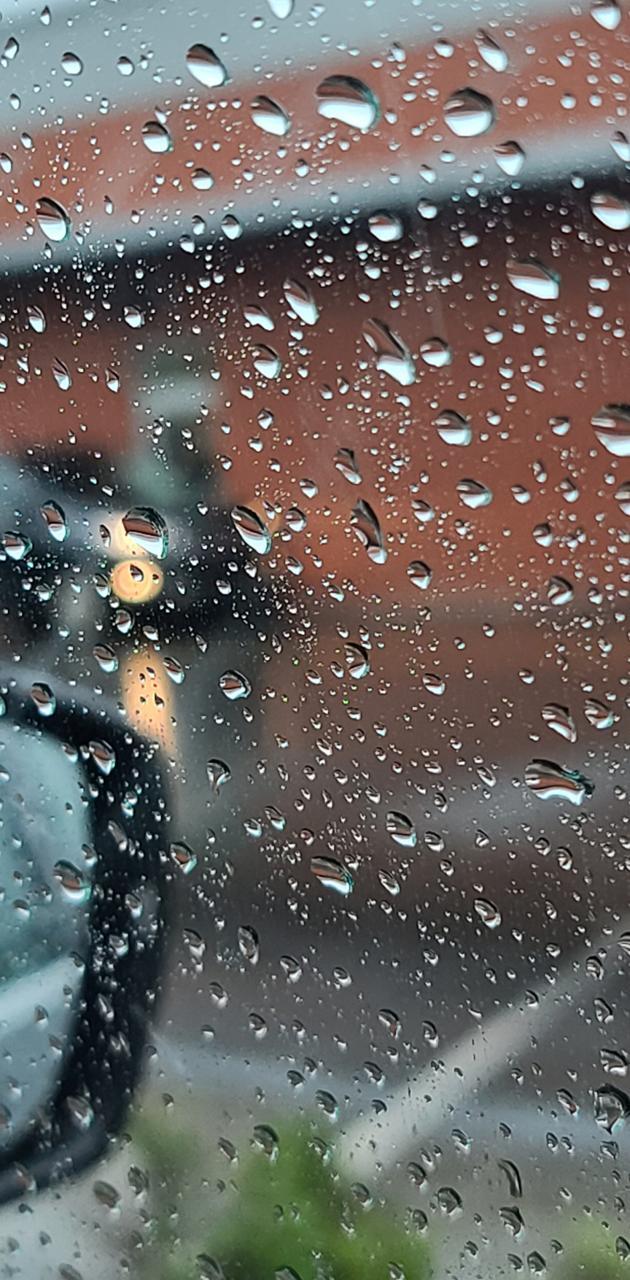 Rainy day car