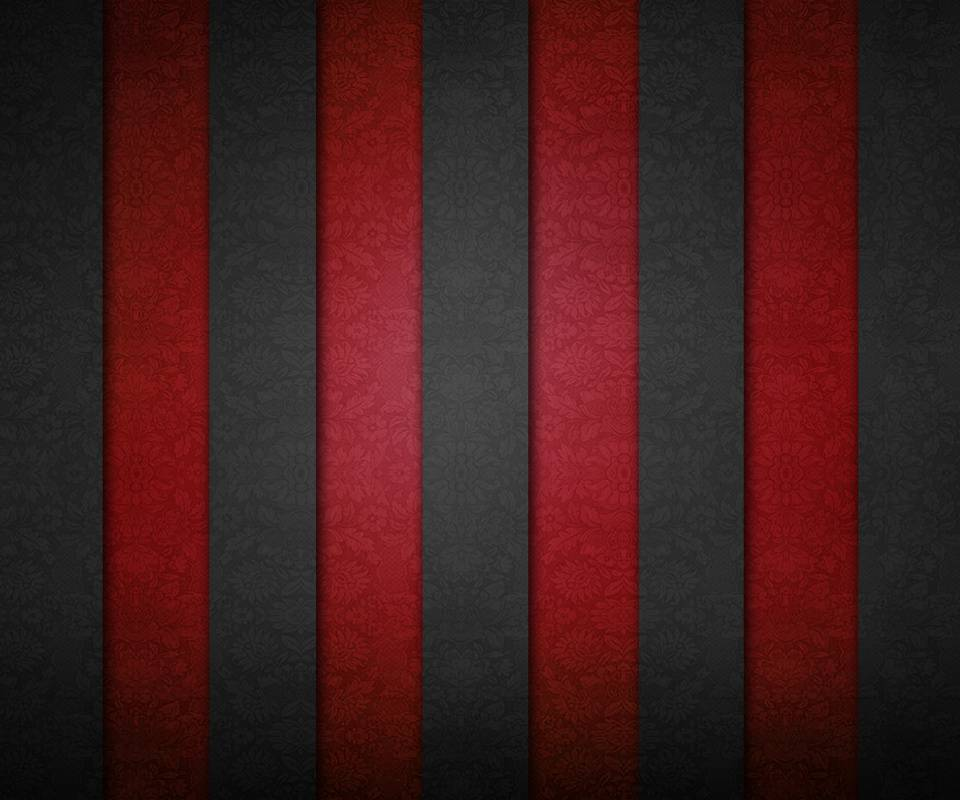 Stripe Wall Red