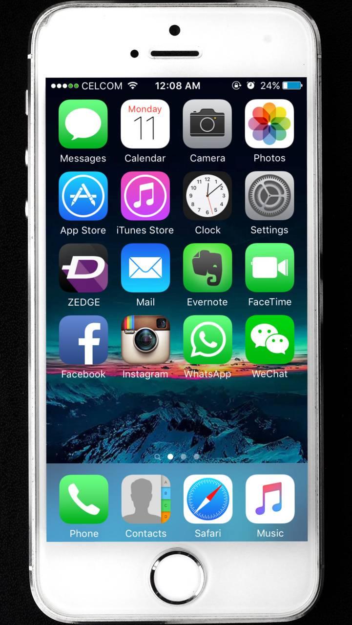 iphone 5s homescreen