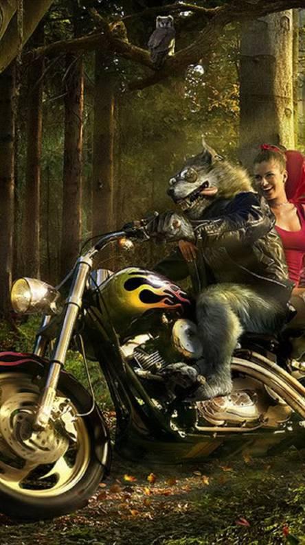 Biker Wolf