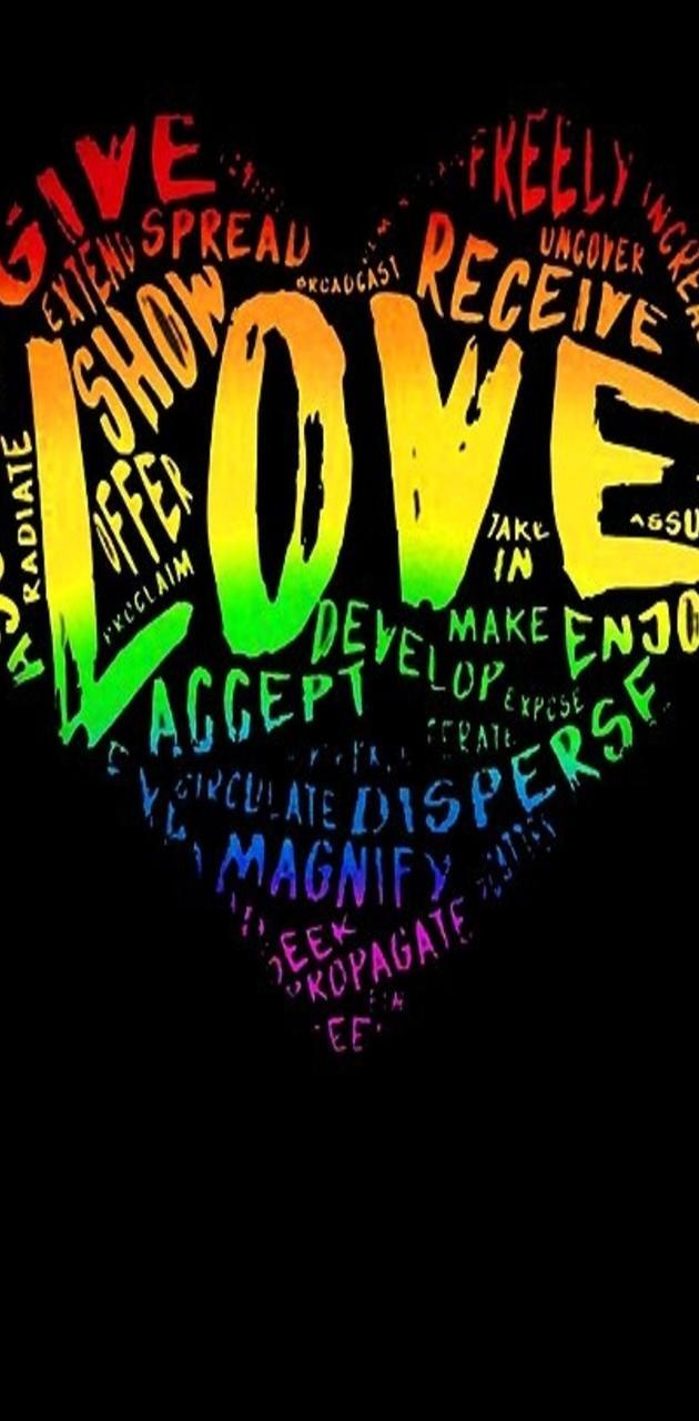 LGBT Love Heart