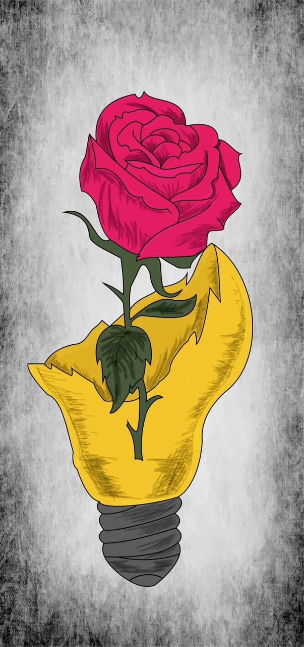 Rose in a Lightbulb