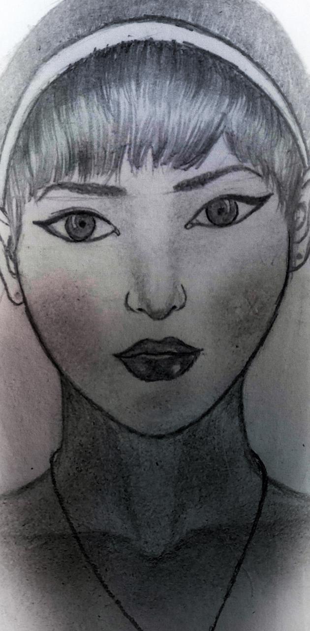 Sketch art girl