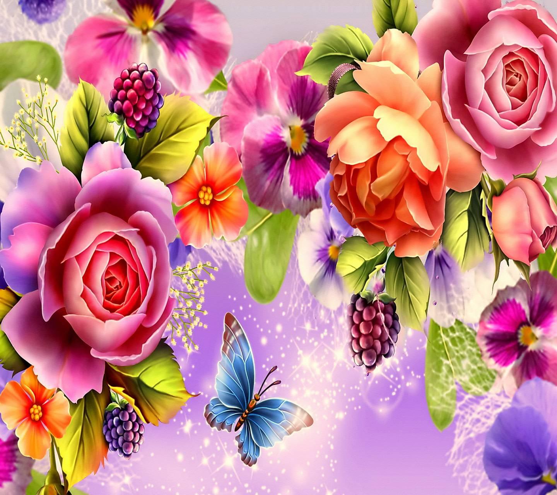 Admiring Roses