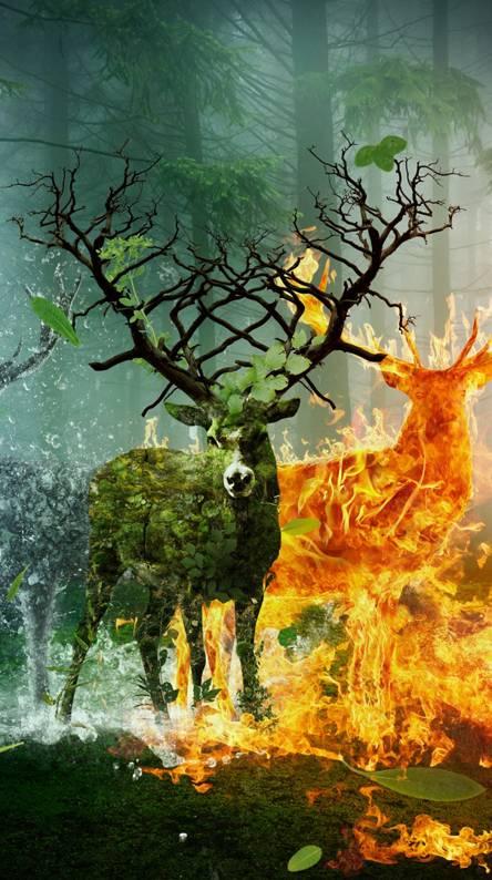 Elemental Deer
