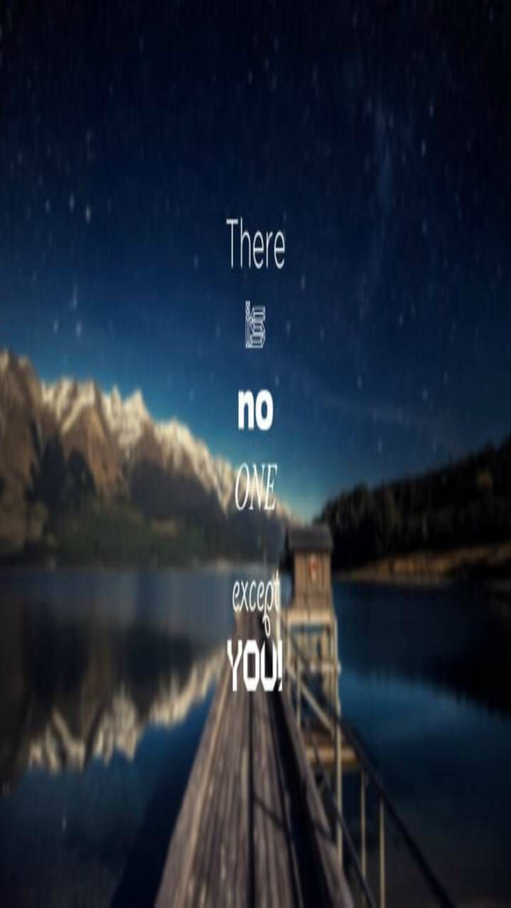 there is no one