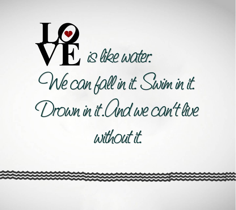 Love Is Like Water