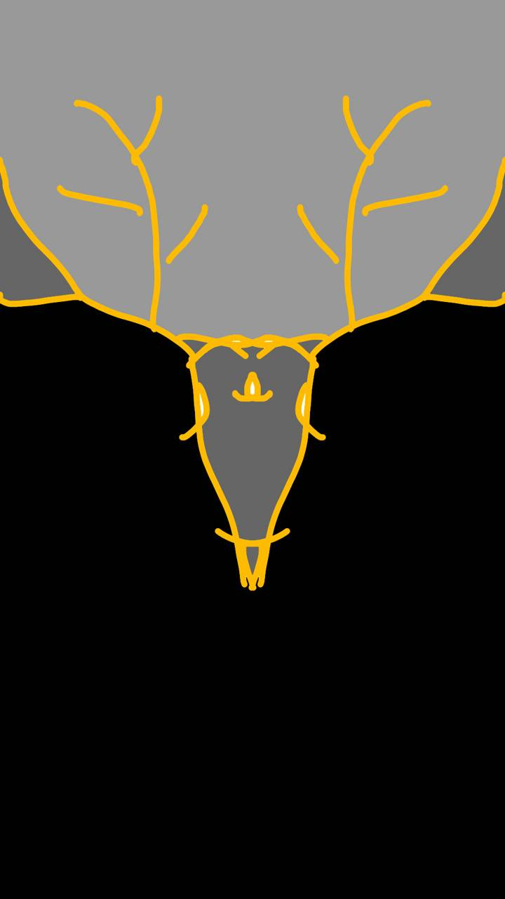 Yellow black stag