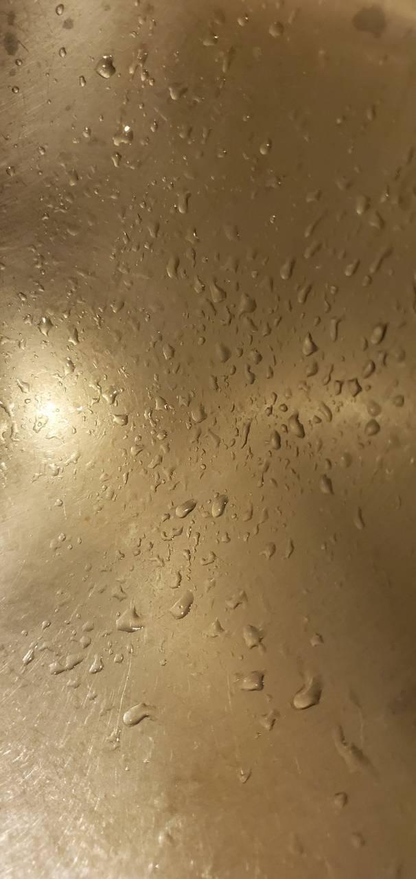 Silver water drops