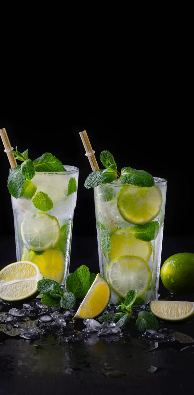 Vodka and lime