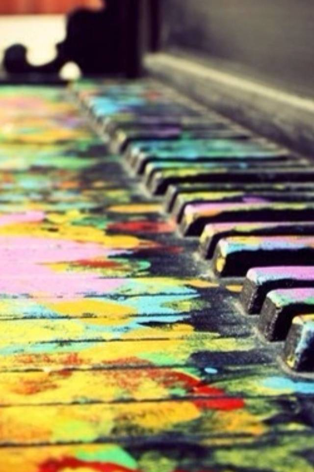 Colourful Piano Wallpaper By TemptatioN