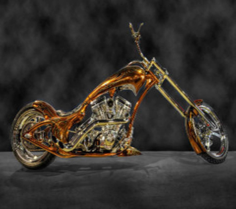 Gold Motor Bike