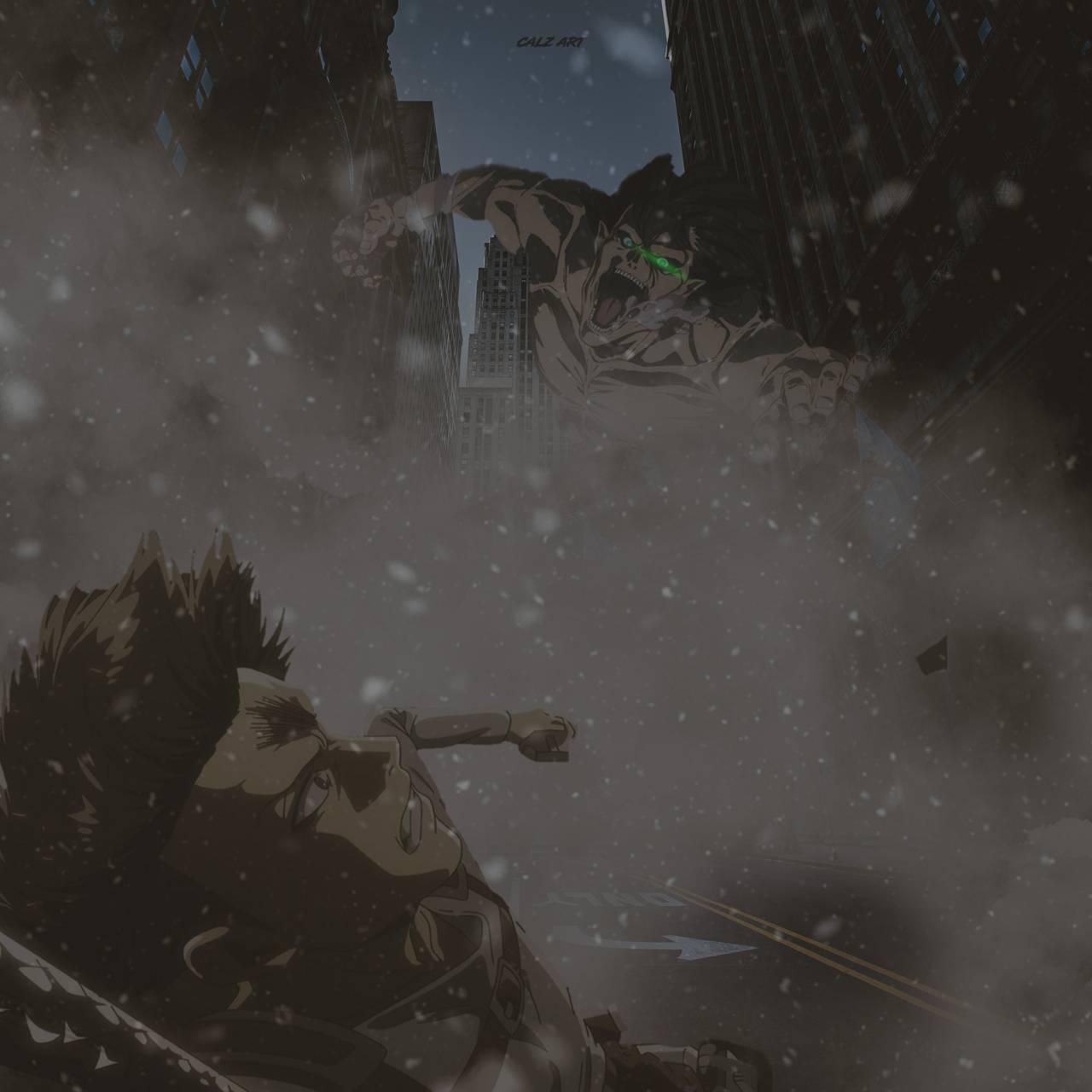 Levi vs Attack Titan