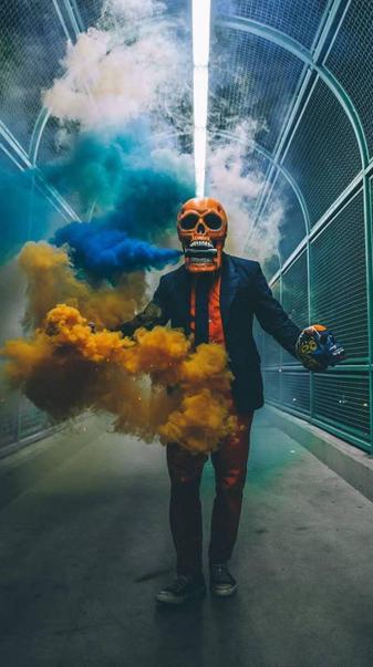 Smoke man