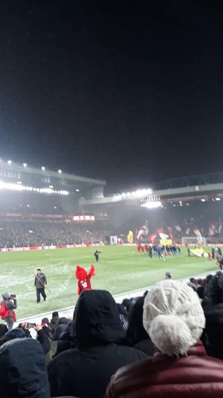 Anfield Snowy Night