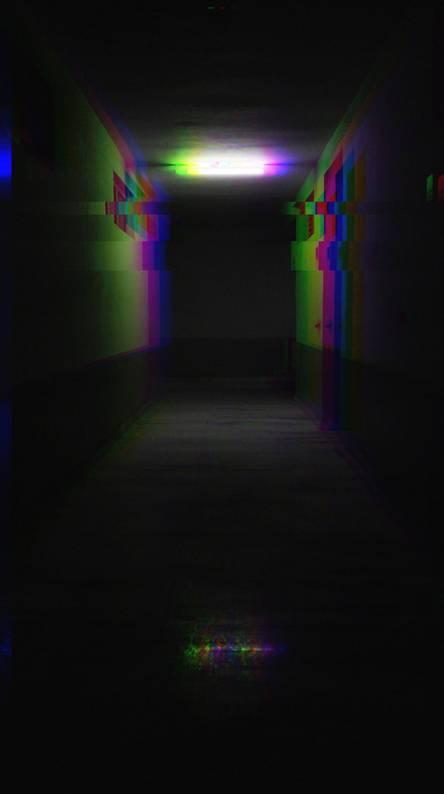 Glitch dark hall