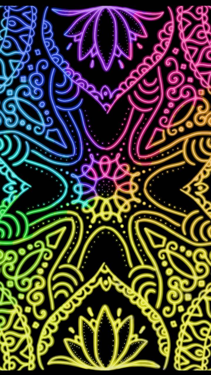 Neon Mandala