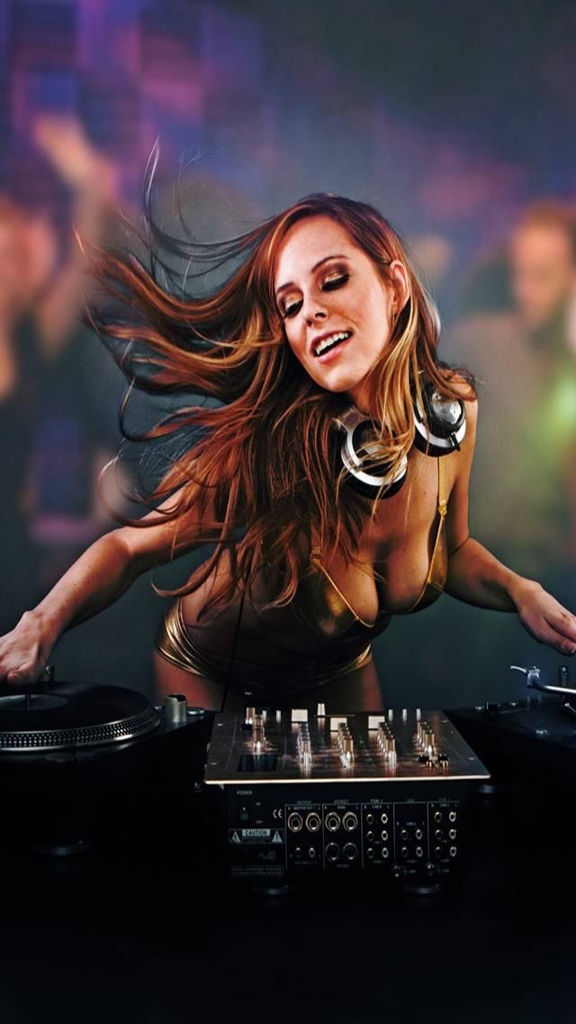 Sexy Blonde DJ