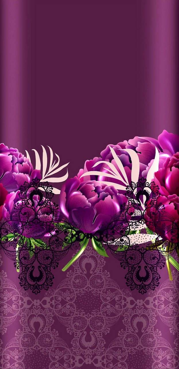 Laced Floral Wallpaper By Nikkifrohloff 4d Free On Zedge