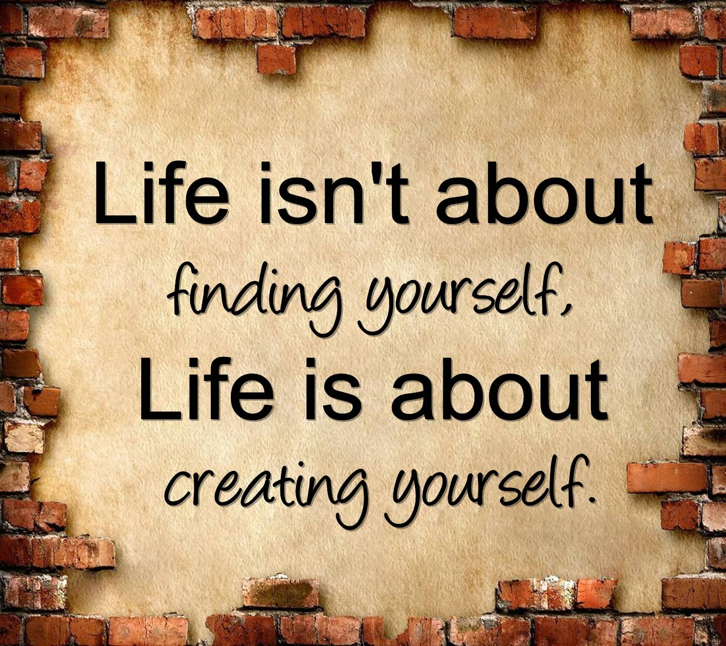Creating Yourself