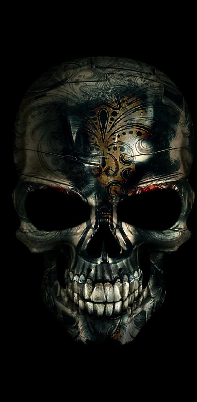 Goldstain skull