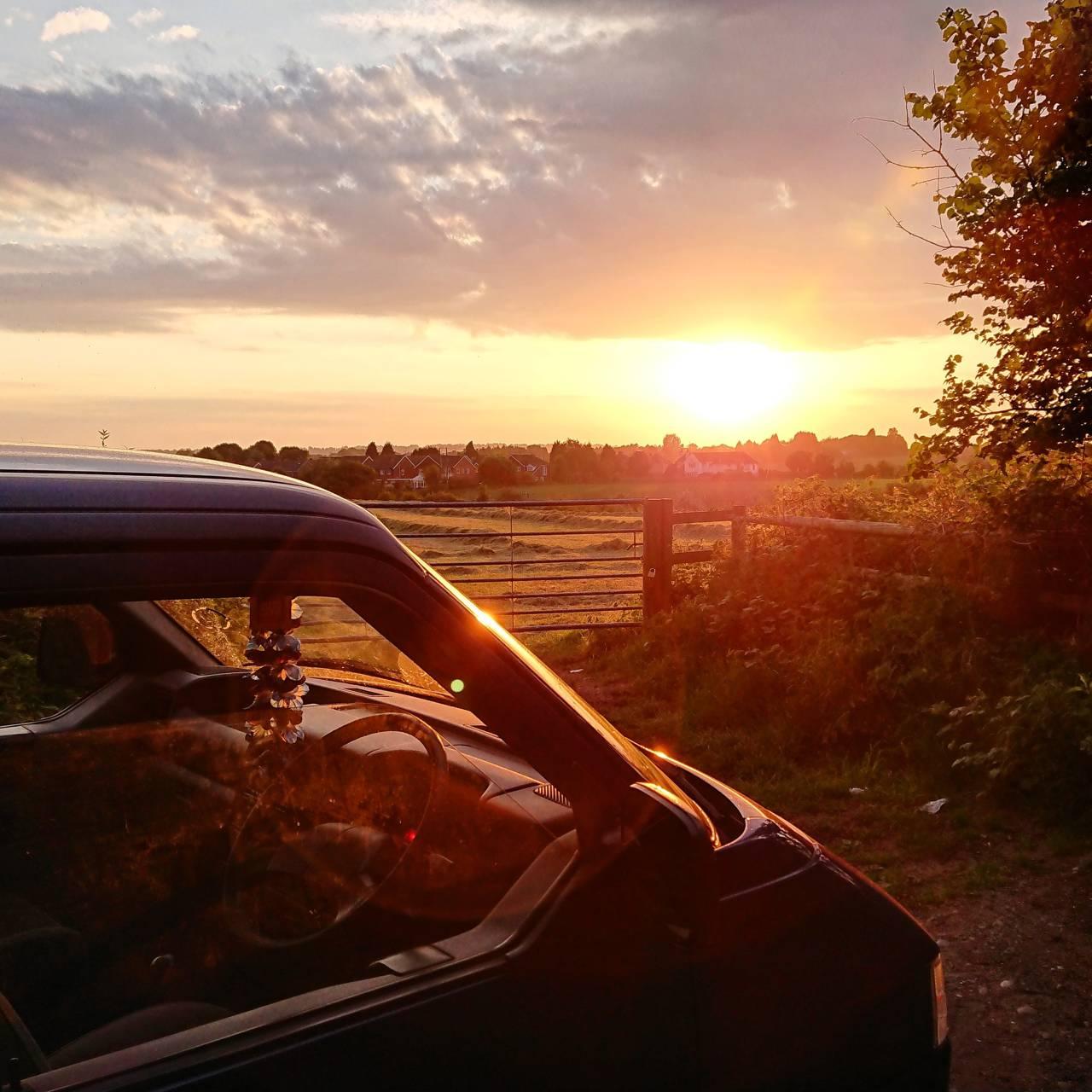 Volkswagen sunset