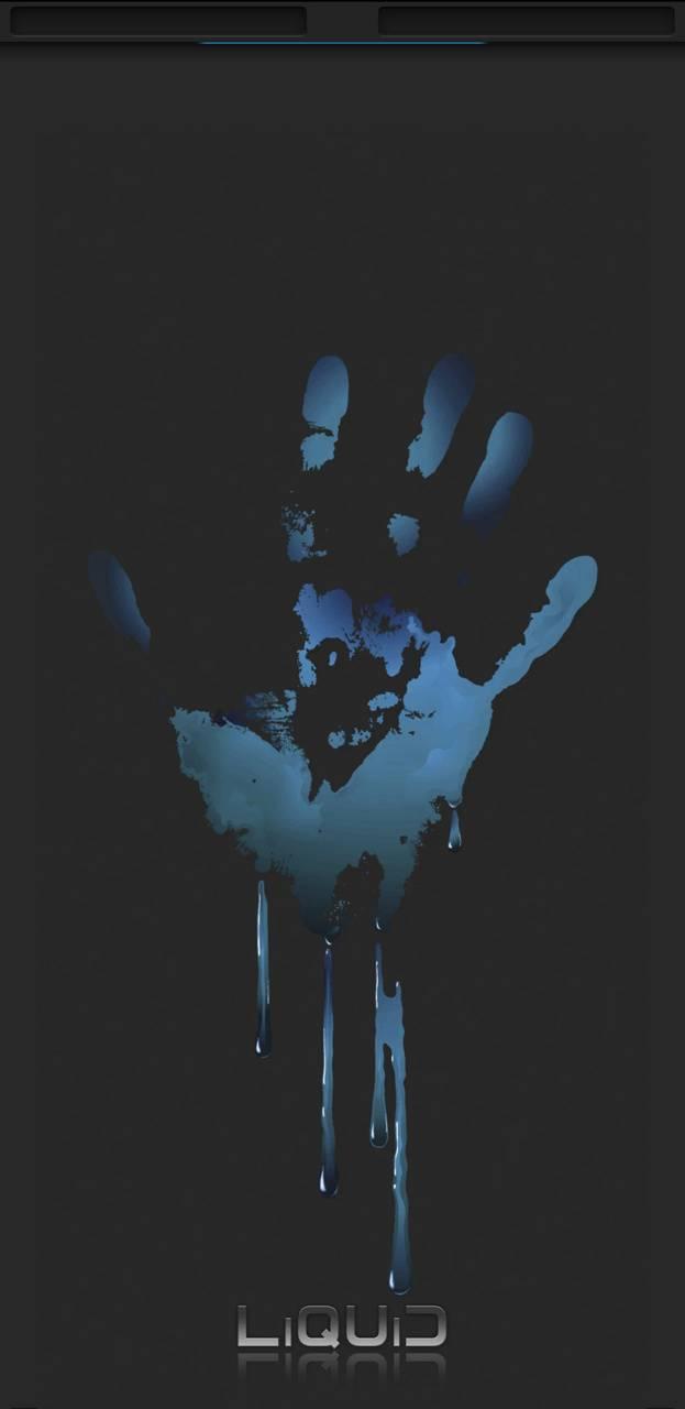 Liquid handprint