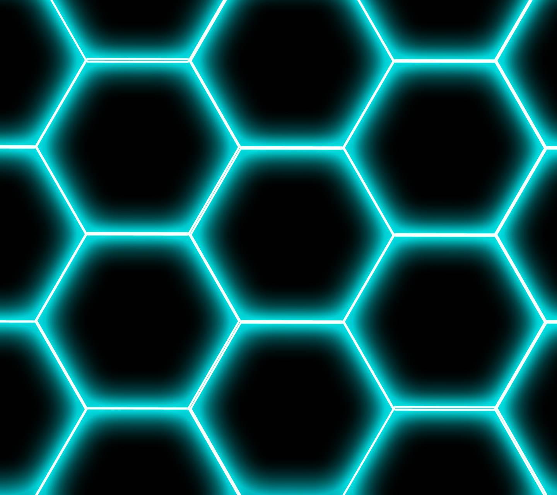 Neon Hex - Blue wallpaper by millsy1980 - 2c - Free on ZEDGE™