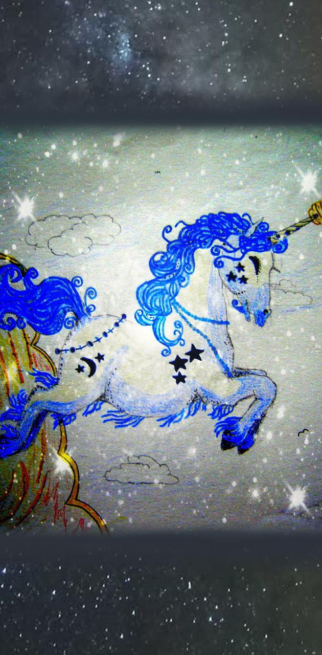 Retro Unicorn Art