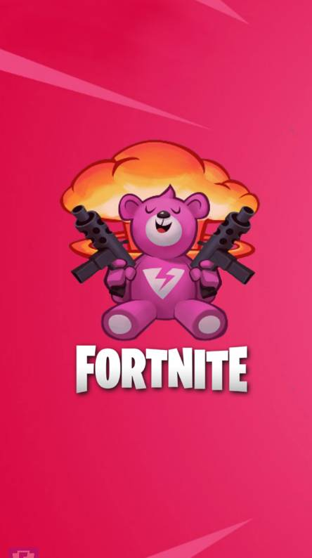 fortnite bear - pink cuddle bear fortnite