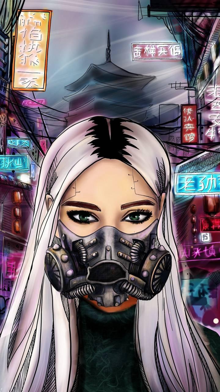 Mask Girl Art