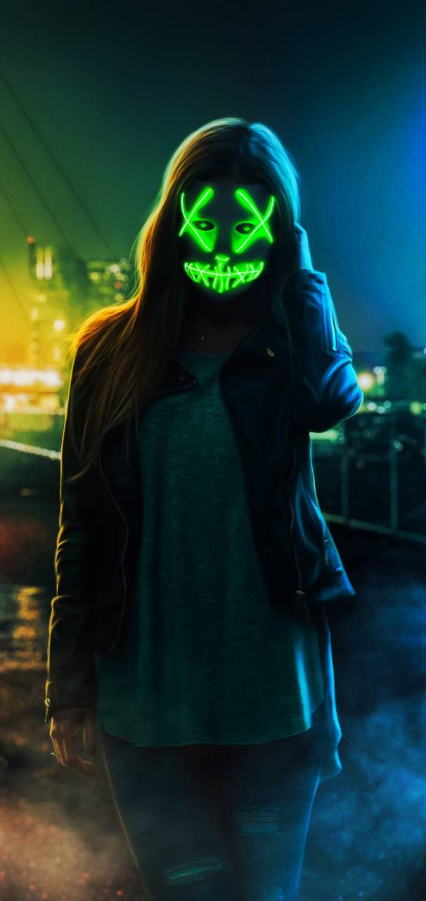 Neon Mask Wallpaper By Themune007 6d Free On Zedge