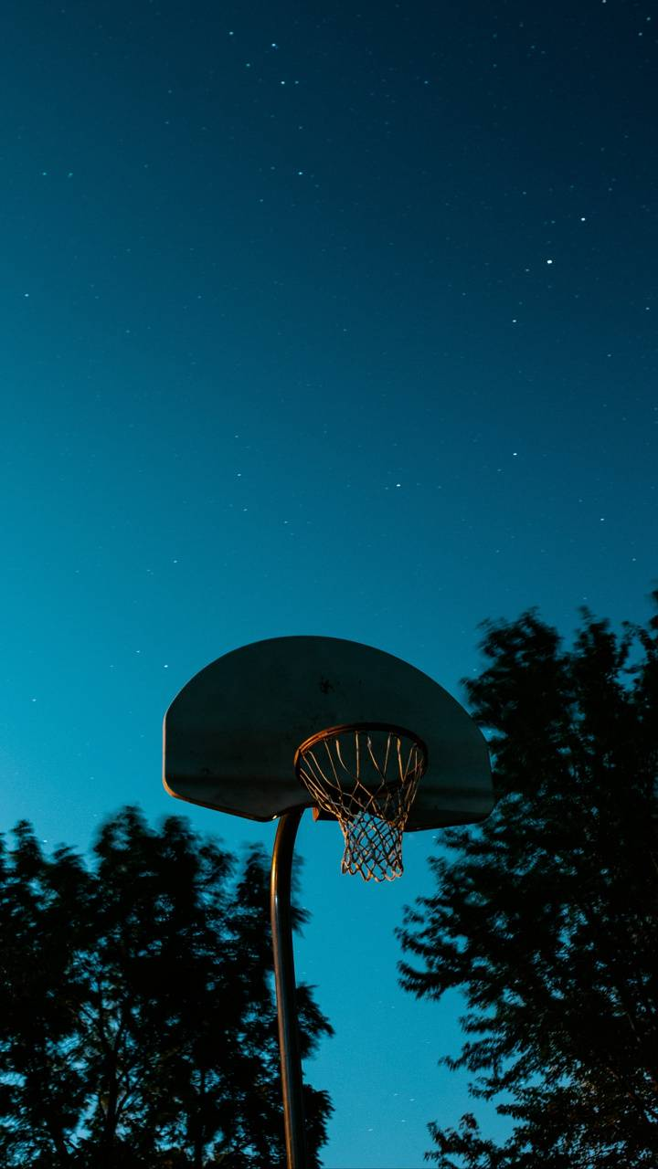 Basketball blue sky