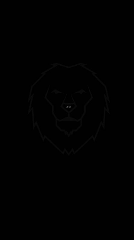 Black Background Black Iphone Lion Wallpaper Hd