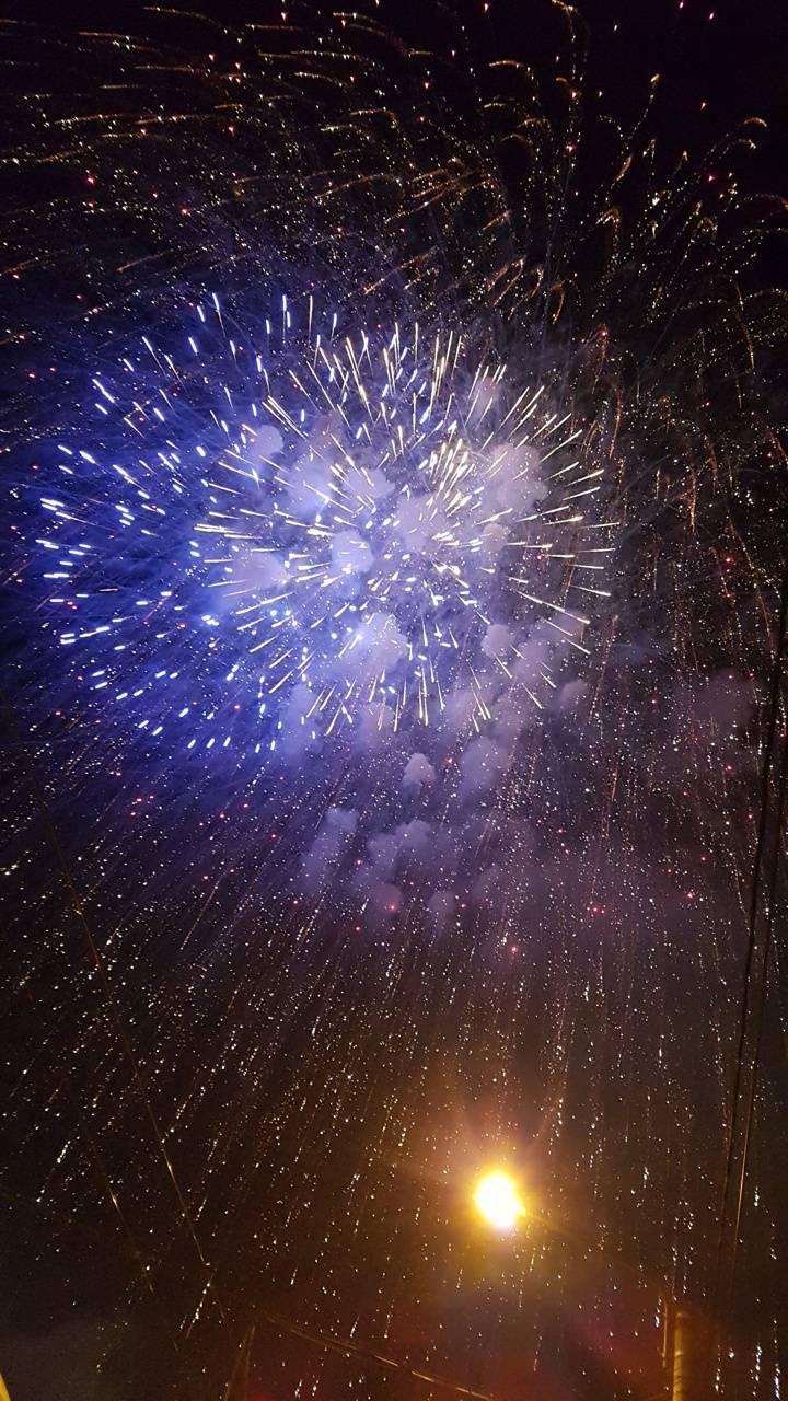 Blue Fireworks Wallpaper Hd