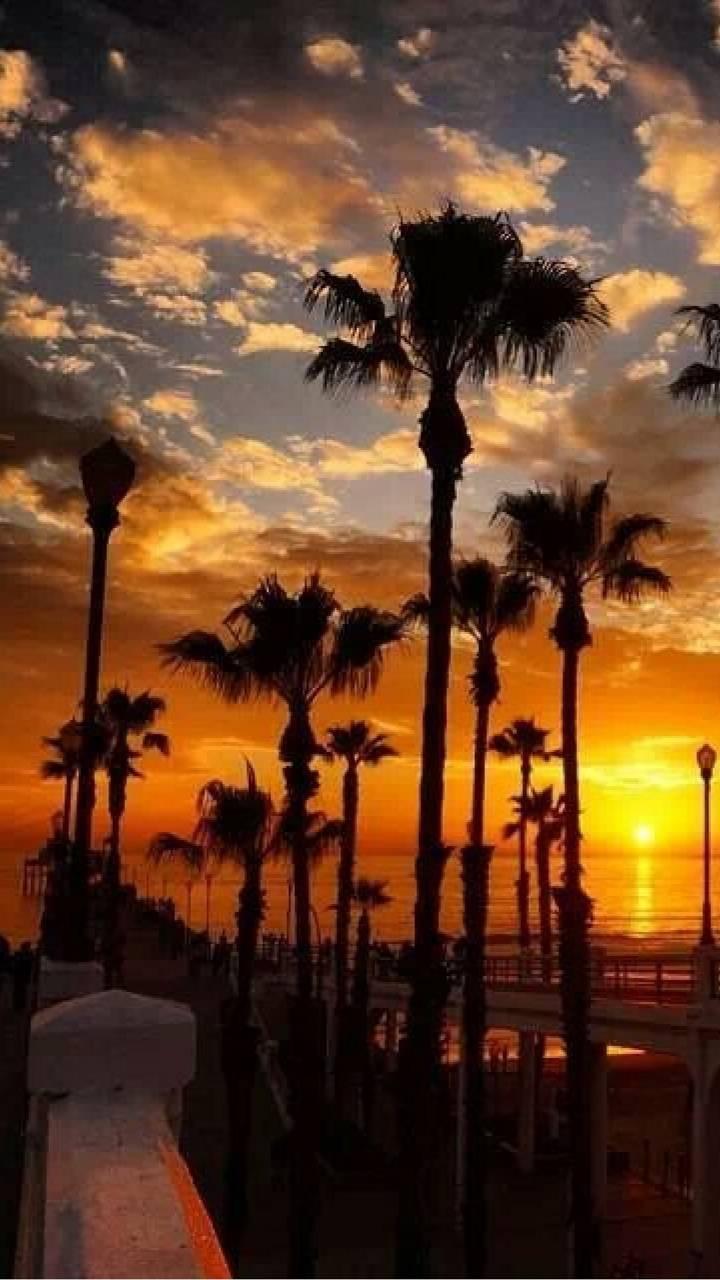 ob pier sunset