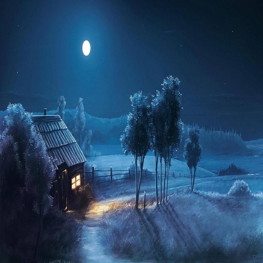 Night moon house