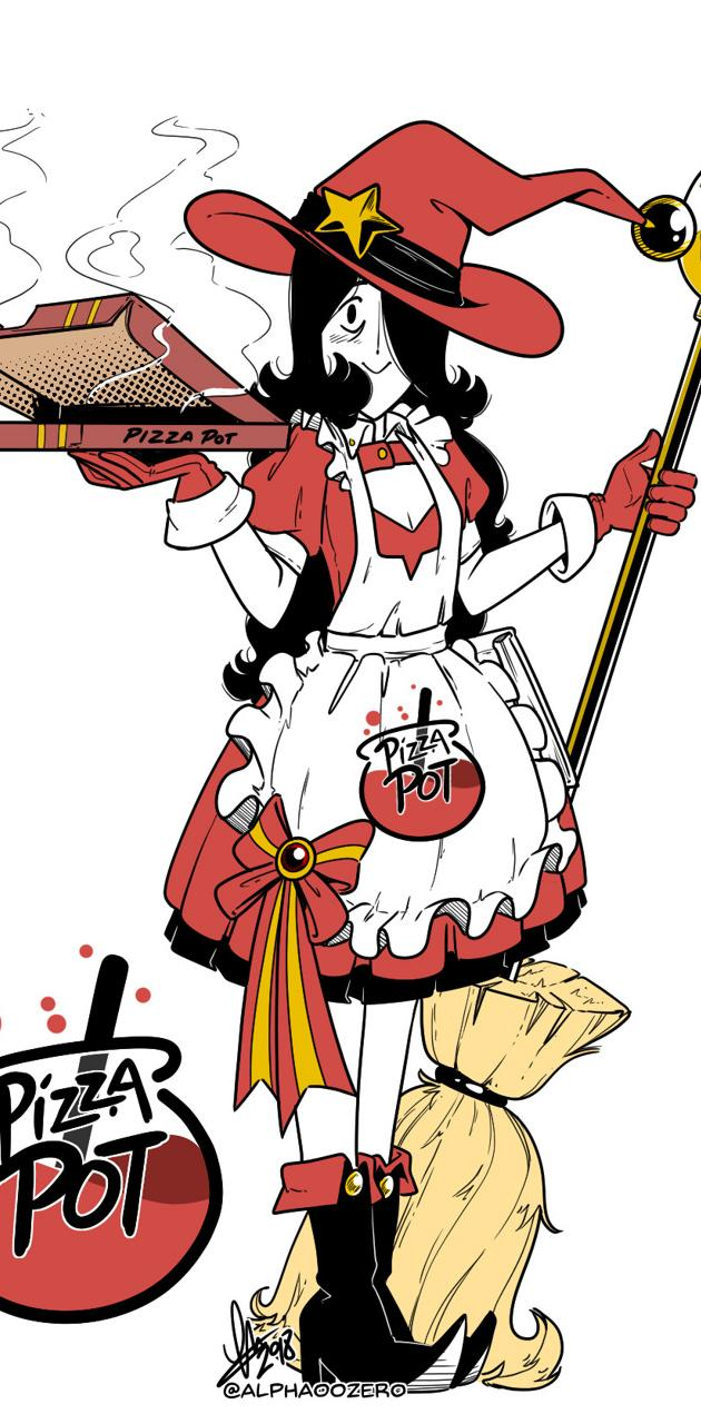 Pizza Pot Witch