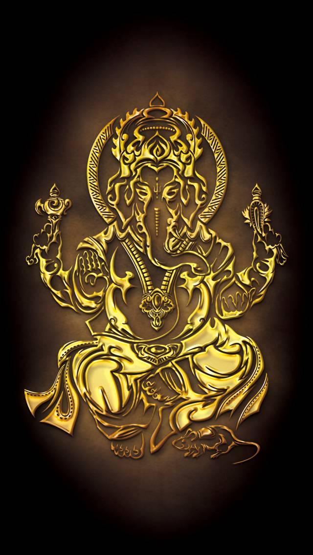 Tribal Golden Ganesh