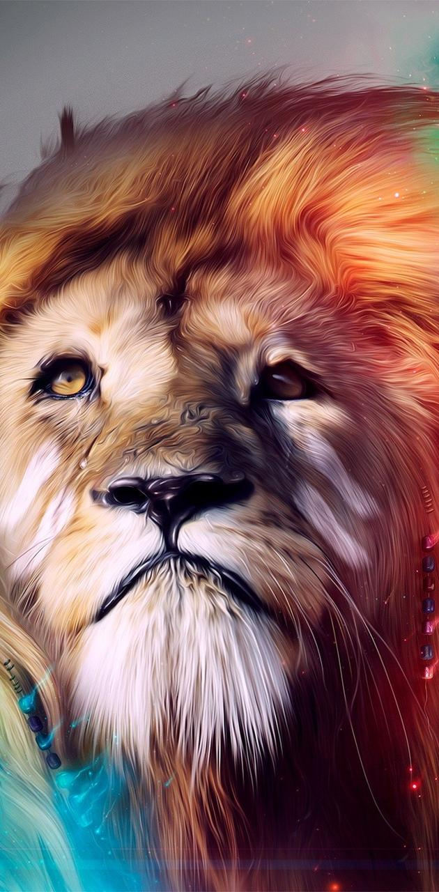 Lion colorful FullHD