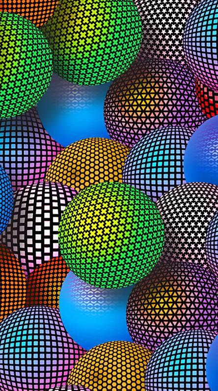 3d Color Spheres