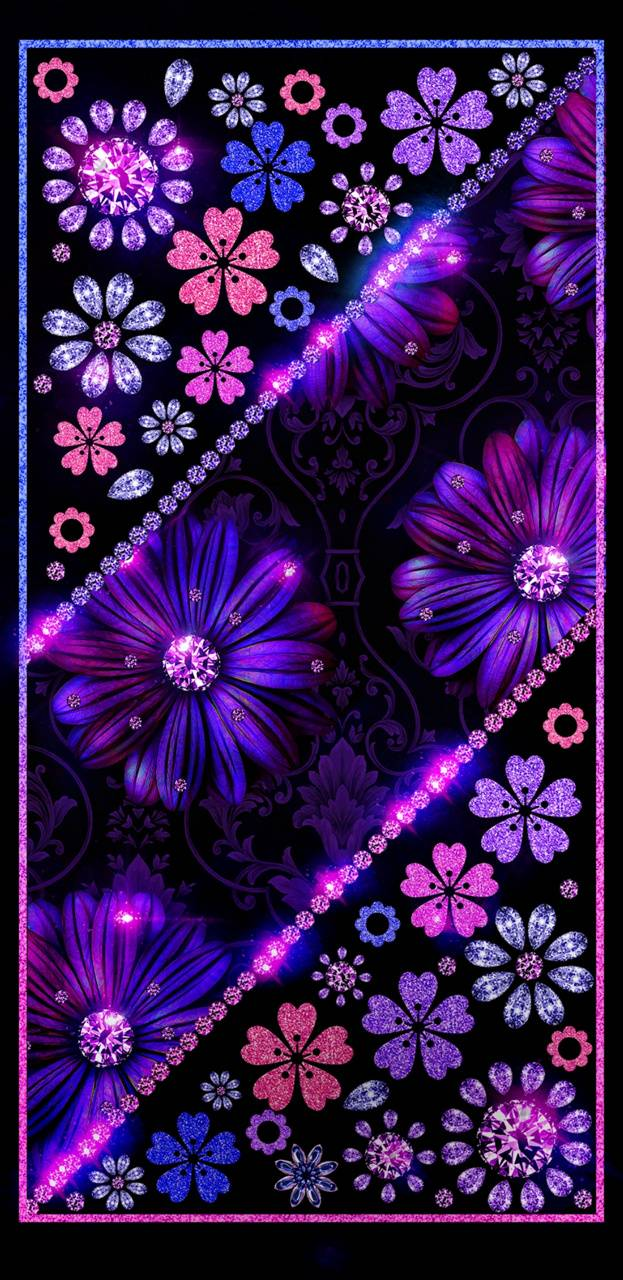 Floral Glitter Wallpaper By Nikkifrohloff Ac Free On Zedge
