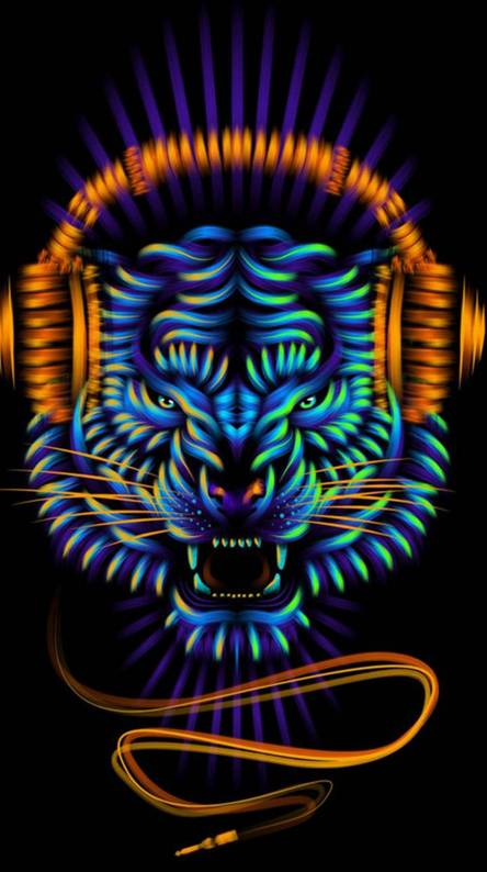 Neon Tiger Wallpapers Free By Zedge