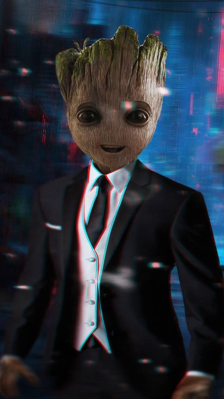 Baby Groot in Suit