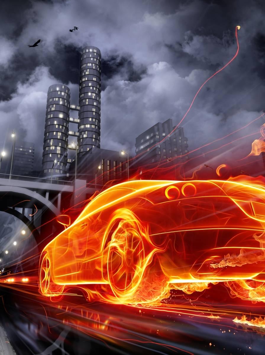 Fire Car 2 Wallpaper By Baseerhyder 1b Free On Zedge